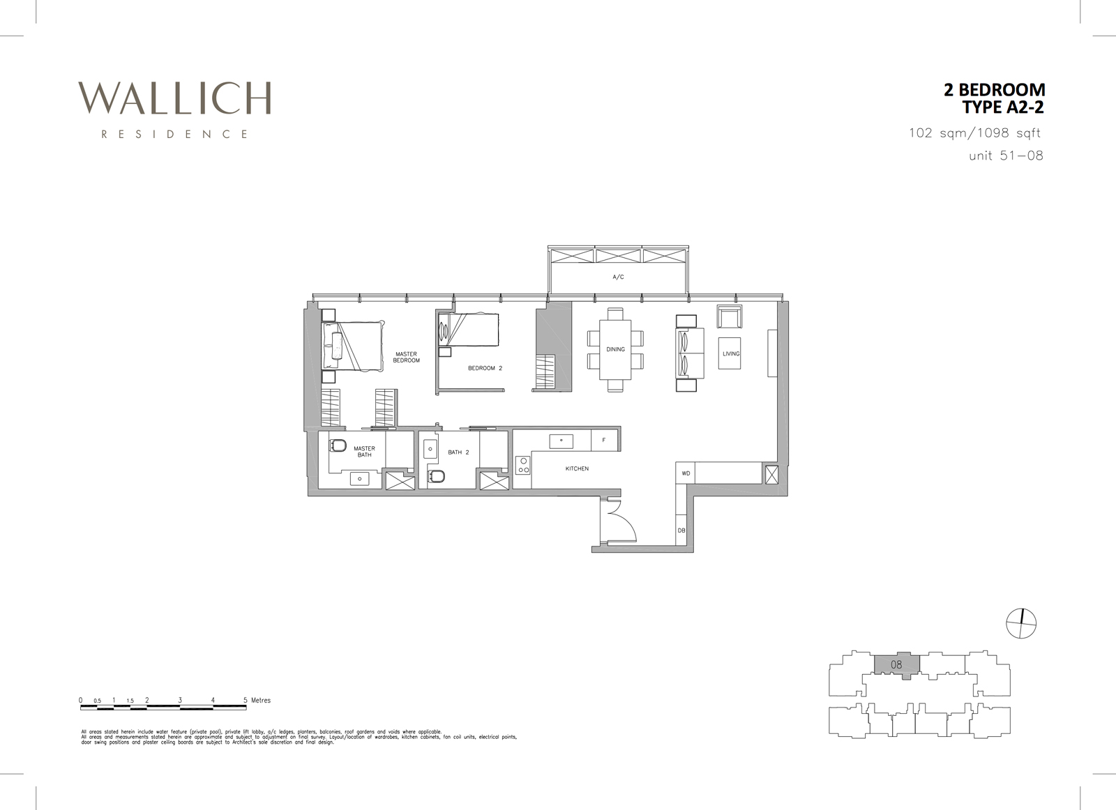 Wallich Residence Unit Layout Plans 2 Bedroom Electrical Plan